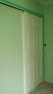 クロス洗面スペースクローゼット和室のドア
